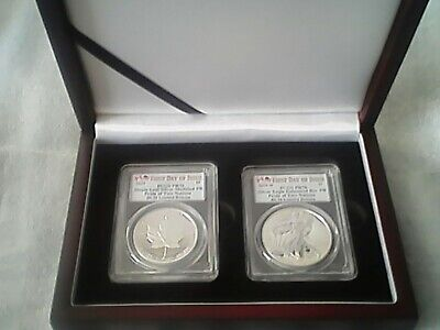 2019 Pride of Two Nations*** CANADIAN SET**PCGS**PF 70**FDOI +WOODEN DISPLAY BOX