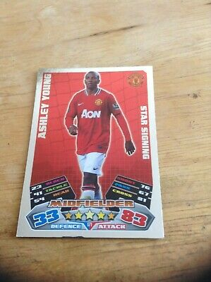 Ashley Young Manchester United Star Signing Rare Shiny Match Attax 11/12 Card