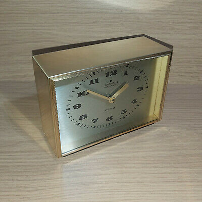 Vintage 1970's Junghans Electronic ATO MAT Brass Cased Mantel Clock Tested Works