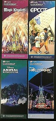 NEW 2019 Walt Disney World Theme Park Guide Maps 4 Current Maps Free Shipping!!