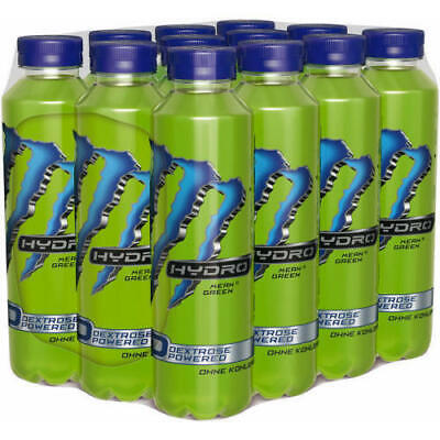 CASE PRICE 12 x Monster Hydro Mean Green 550ml BBE 10/2019 Quick Delivery
