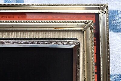 Lot 3 Art Deco Silver Metal Embossed Picture Frames Ornate Corners