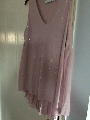 NEXT dusk pink top pleated flare pack and pretty front party! Size 16
