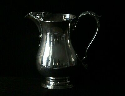 Vintage E.G. Webster & Sons Repousse Silver Plate 2 Quart Water Pitcher Signed
