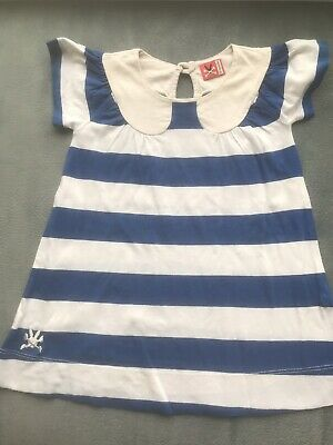 BNWT Girls Cream /& Royal Blue Pretty Originals dress with matching pants /& hat