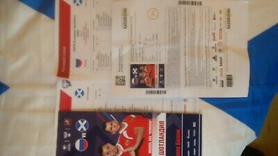 Russia v Scotland - 10/10/19. Euro 2020 Qualifiers. Programme and Teamsheet set.