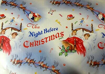 Vintage 1940's Christmas Wrapping Paper., Wallace Brown, Night before Christmas