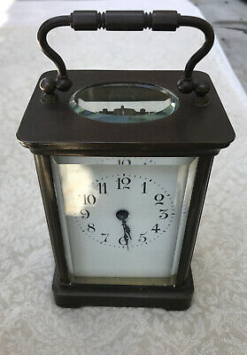 Antique French Carriage Clock, Works Perfect.  Marked H & H, Made In France.