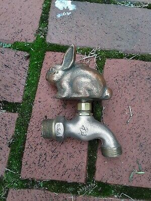Brass Garden Rabbit Spigot Tap Faucet Vintage Water Home Decor Living Outdoor