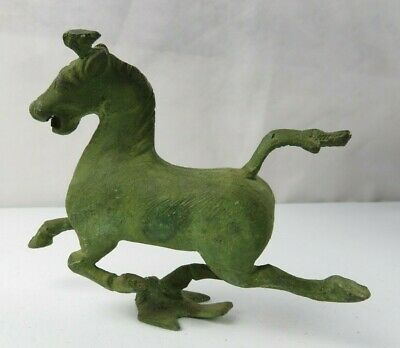 Old Fine Art Heavy Bronze Chinese Tang Dynasty Horse Sculpture Statue
