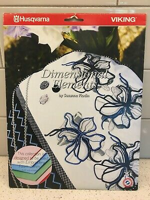 Husqvarna Viking Embroidery Pattern #251 - Dimensional Elements - CD