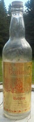 old Brotherhood Holiday wine bottle - Special Grape Wine