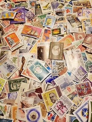 World, Kiloware,Collection lot of 1000 worldwide stamps Off paper,mint,used #100