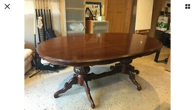Vintage French Provincial Extendable Pedestal Dining Table