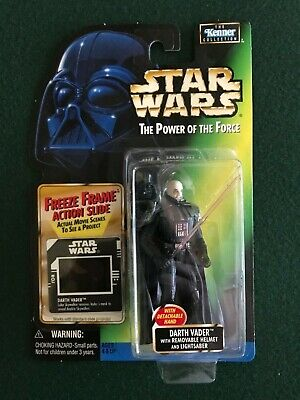Star Wars 1997 Power of the Force Darth Vader with Removable Helmet figure MOC