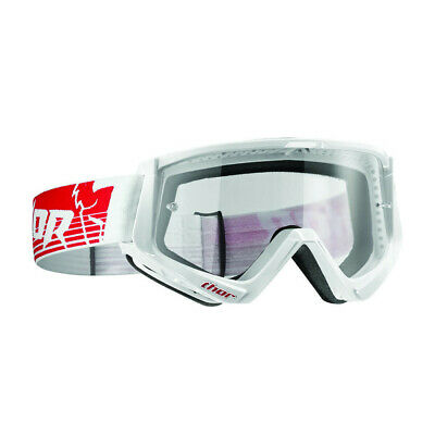 Thor Conquer Goggles Motocross Enduro Offroad Brille rot/weiß