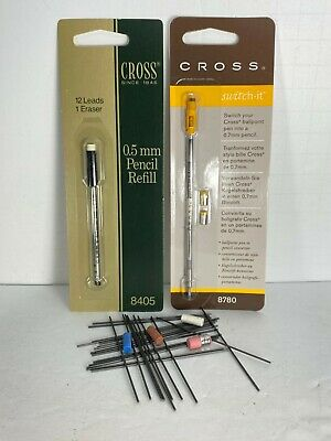 CROSS PENCIL LEADS & ERASERS 0.5mm 0.7mm 0.9mm & SPECIAL ERASERS SEE DESCRIPTION