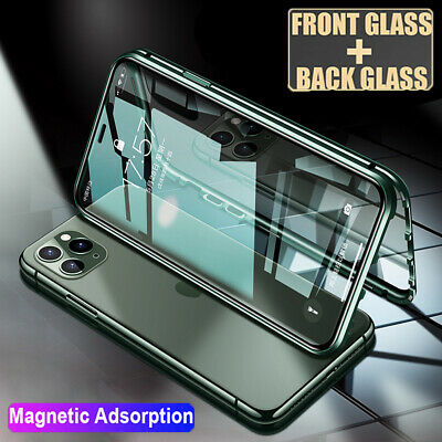 360° Full Body Tempered Glass Case for iPhone 11 Pro Max XR Magnetic Metal Cover