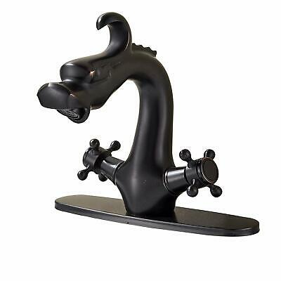 Dragon Head Dual Knobs Bathroom Sink Faucet with 8 Inch Holes Cover Plate ORB