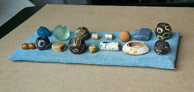 Lovely Group Of Ancient Viking Decorated Glass Beads