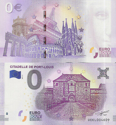 "Billete 0 euros ""CITADELLE DE PORT-LOUIS"" serie 2018"