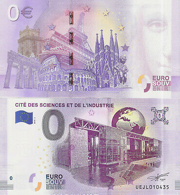 "Billete 0 euros ""CITÉ DES SCIENCES ET DE L'INDUSTRIE"" serie 2019"