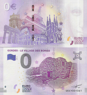 "Billete 0 euros ""GORDES - LE VILLAGE DES BORIES"" serie 2019"
