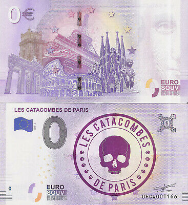 "Billete 0 euros ""LES CATACOMBES DE PARIS"" serie 2019"