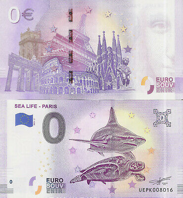 "Billete 0 euros ""SEA LIFE - PARIS"" serie 2019-2"