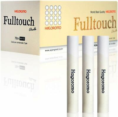 Hagoromo Fulltouch Color Chalk 1 Box 72 Pcs/White Well Coated Dust Free