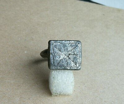 Ancient Viking Old Tin FABULOUS STATUS Ring Runic Ornament VERY RARE