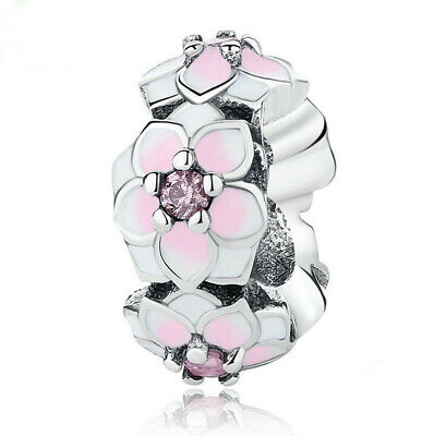 NEW European Silver plated Charm Bead Fit sterling 925 Necklace Bracelet F#086