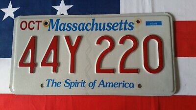 Plaque d'immatriculation Massachusetts 44Y220 US USA license plate