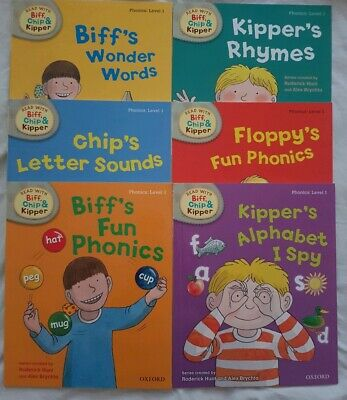 Read with Biff Chip + Kipper Level 1 phonics set of 6 books Oxford Reading Tree