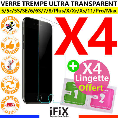 Verre Trempe Vitre Film Protection Iphone 5S Se 7 6S 6 8 Plus Xr X Xs 11 Pro Max
