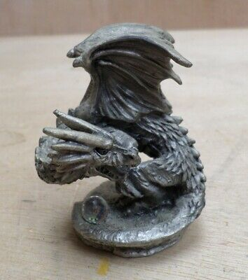 The Fiery Dragon Crystal Pewter Figure Tudor Mint N007 2003 Free UK P+P