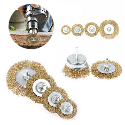 Tools Sanding Discs Brass Wire Wheel Flat Cup Brush Rust Removal Polishing