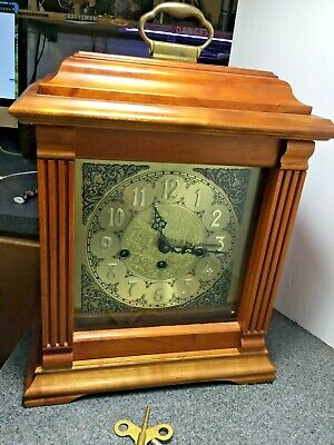 Outstanding Emperor Westminster Chimes Cherry Bracket Mantel Clock Germany