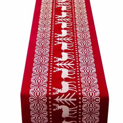 Christmas Table Runners Cloth Xmas Elk Year Party Dinner Table Decoration Home