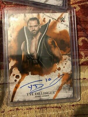 2018 Topps WWE Undisputed Tye Dillinge Autographed Card /99 Auto Orange Parallel