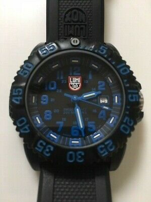 Luminox Colormark Navy Seal Dive Watch 44mm Black/Blue Excellent Used Condition