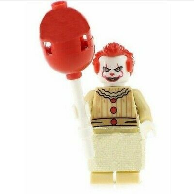 G3 - IT Pennywise - Custom Minifigure Gashapon LEGO - Nuovo in Blister