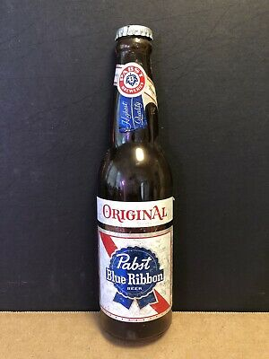 Pabst Blue Ribbon - Vintage - Beer Promo - Plastic Bottle