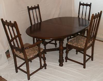 Vintage Ercol Old Colonial Solid Elm Dining Table And Six Chairs-Cash On Collect