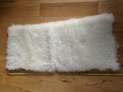 "Quality Faux Fur Thick Pile Luxury Heavy Creamy white, sheep soft  31"" X 13"""