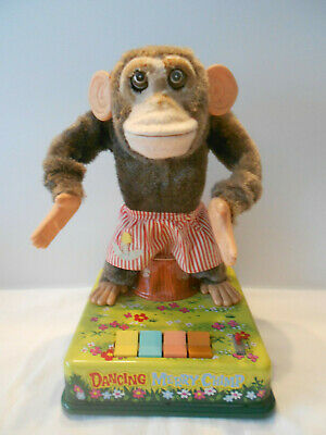 Rare Dancing Merry Chimp batterie Fonctionnel - Singe Made in Japan 4 positions