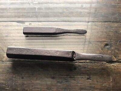 Two Antique Oyster  Knives One Small One Very Heavy