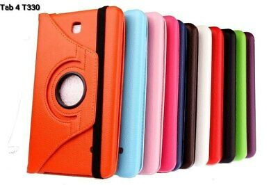 P U Leather Rotating Smart Case Cover for Samsung Galaxy Tab 4 8 inch T330/T335