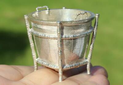 Antique Chinese Export Solid Silver Salt Cellar (R3080A)