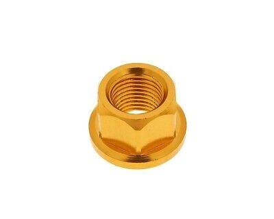 Mutter Radachse Aluminium gold eloxiert - M12x1,25